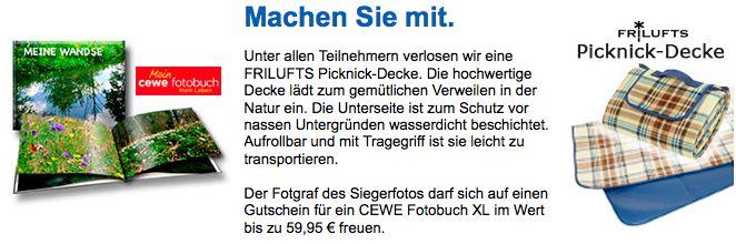 Im Juli können Sie bei uns eine Picknick-Decke von FRILUFTS gewinnen. Machen Sie mit. - http://www.nabu-fotoclub.de/gewinnspiel