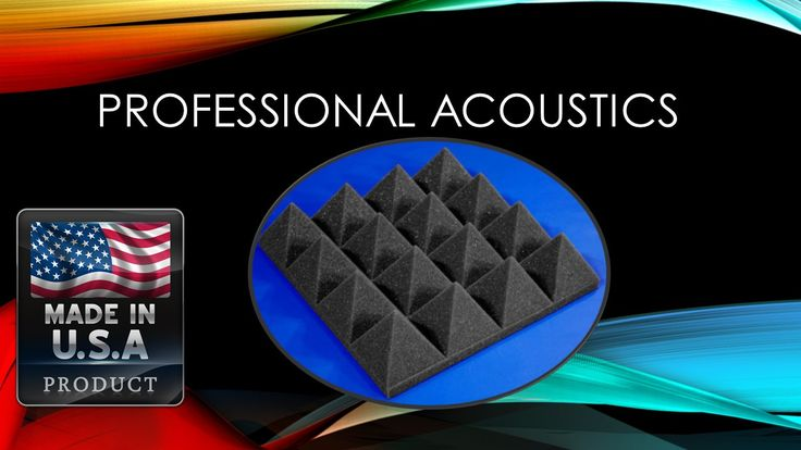 "Professional Acoustic 3"" x 12"" x 12"" Charcoal Acoustic Pyramid Studio Foam 12 Pack"