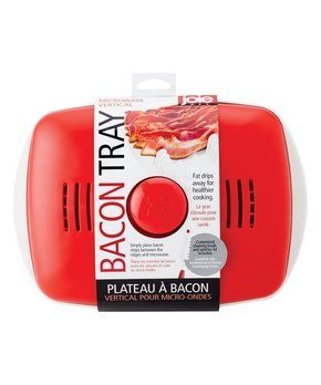 Red Microwave Vertical Bacon Tray