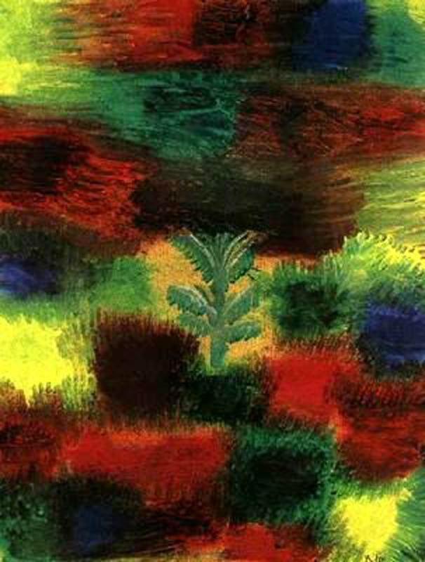 Paul Klee >> Little Tree medio Shrubbery  |  (, obra de arte, reproducción, copia, pintura).