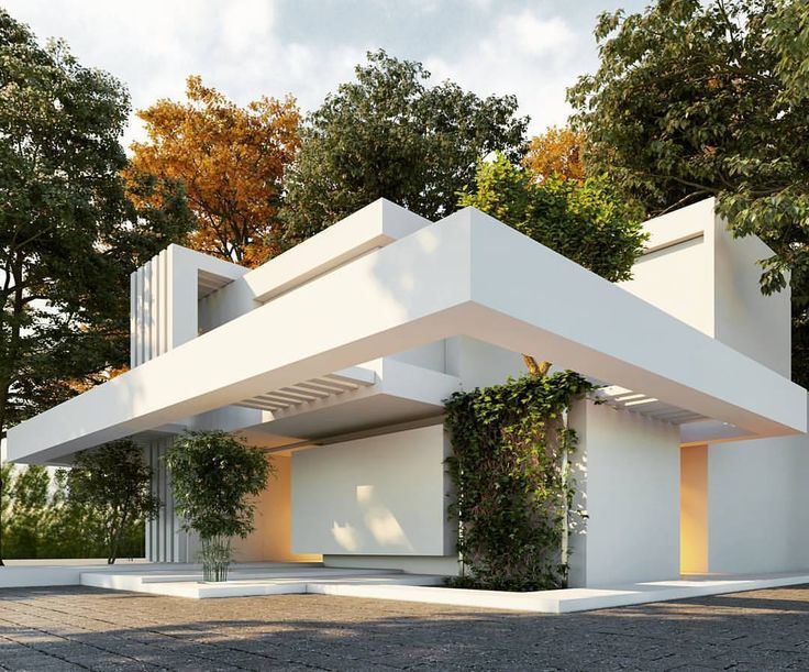 Superb Love This White Architecture With The Green Surroundings