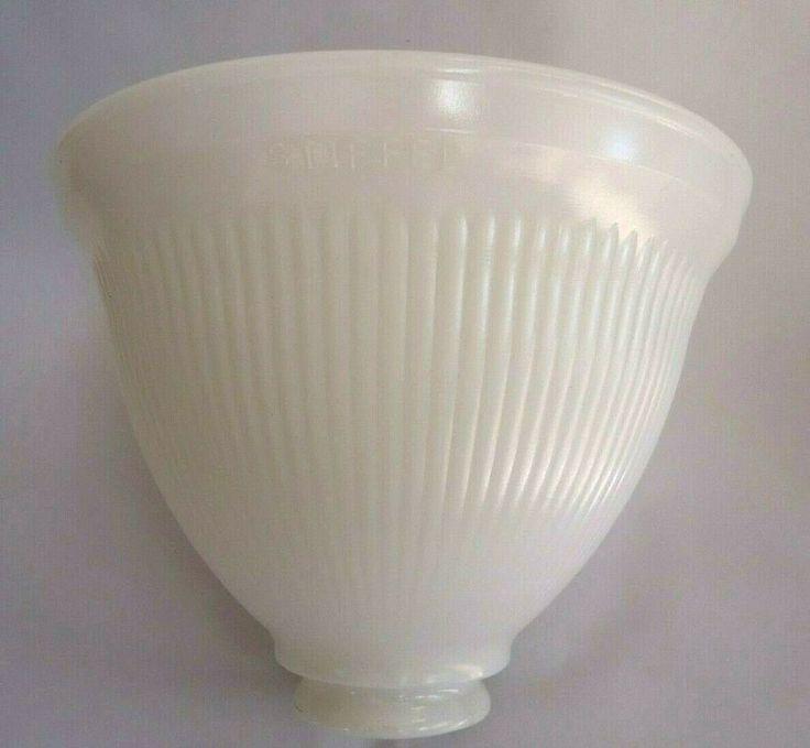 "8"" STIFFEL Milk Glass Lamp Diffuser Torchiere Shade"