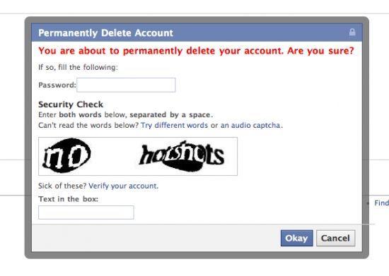 Cómo borrar mi cuenta de Facebook definitivamente