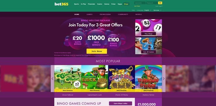 Bet365 #Bingo  £1,000 Free Bingo  Up to £100 Bingo #Bonus  £20 Slots Bonus  http://www.gamesandcasino.com/bingo/bet365-bingo.htm