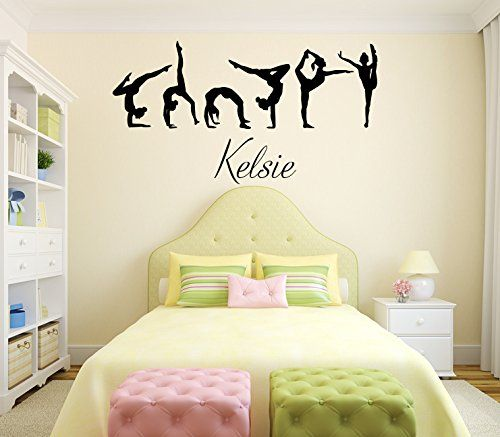 gymnastics bedroom. Love this Personalized Gymnast Decal 15 best Gymnastics Themed Bedroom images on Pinterest  Dream
