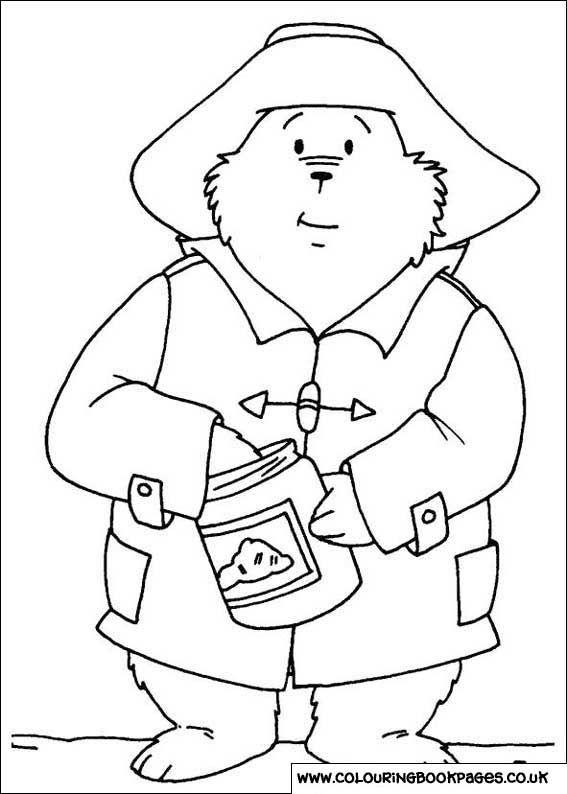 PADDINGTON BEAR 33 Paddington Bear Colouring Pages For Kids Full Size