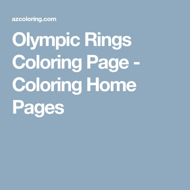 Olympic Rings Coloring Page - Coloring Home Pages