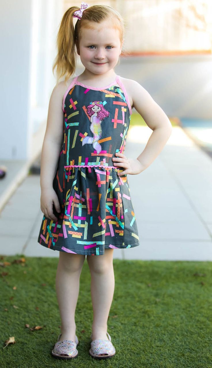 One Thimble Issue 16-Preview and Blog Tour — Pattern Revolution // Hally Dress - woven casual dress for girls