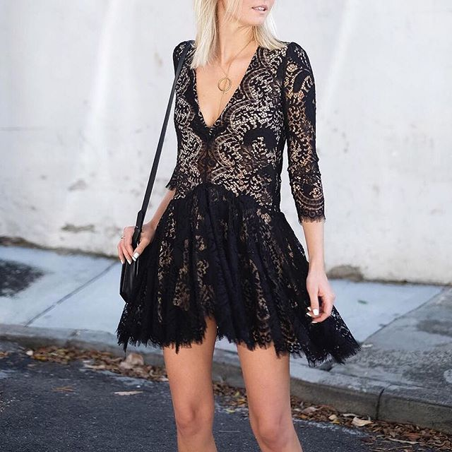 A little lace dress is just what your Saturday night needs!