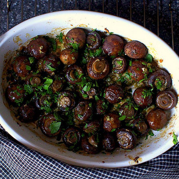 Garlic Butter Roasted Mushrooms Recipe!! finally found it again!