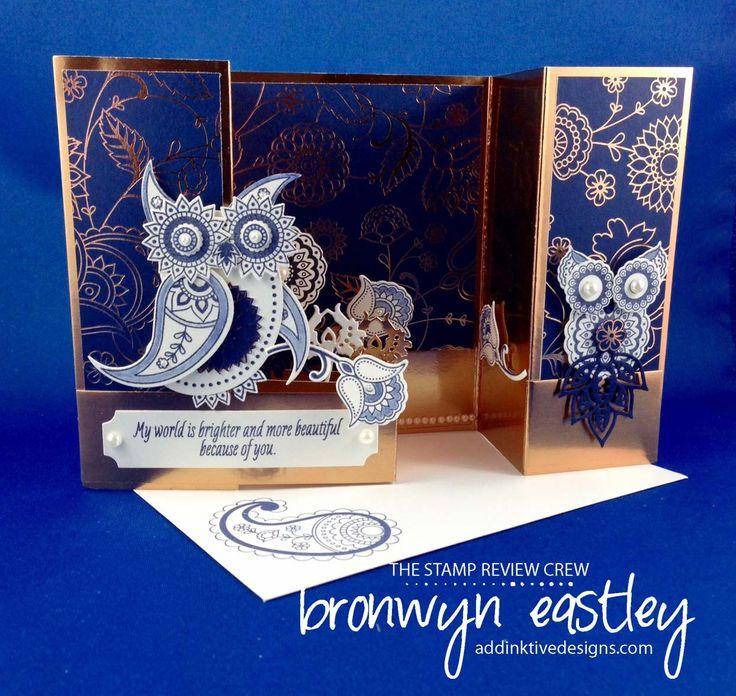 owls handmade from SU Paisleys & Posies... card by Bronwyn Eastley