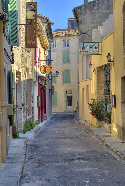 St. Remy de Provence under a setting sun. #France ~~ For more:  - ✯ http://www.pinterest.com/PinFantasy/viajes-~-la-france-en-images/