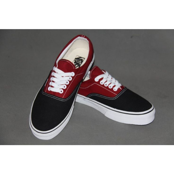 vans era burgundy black