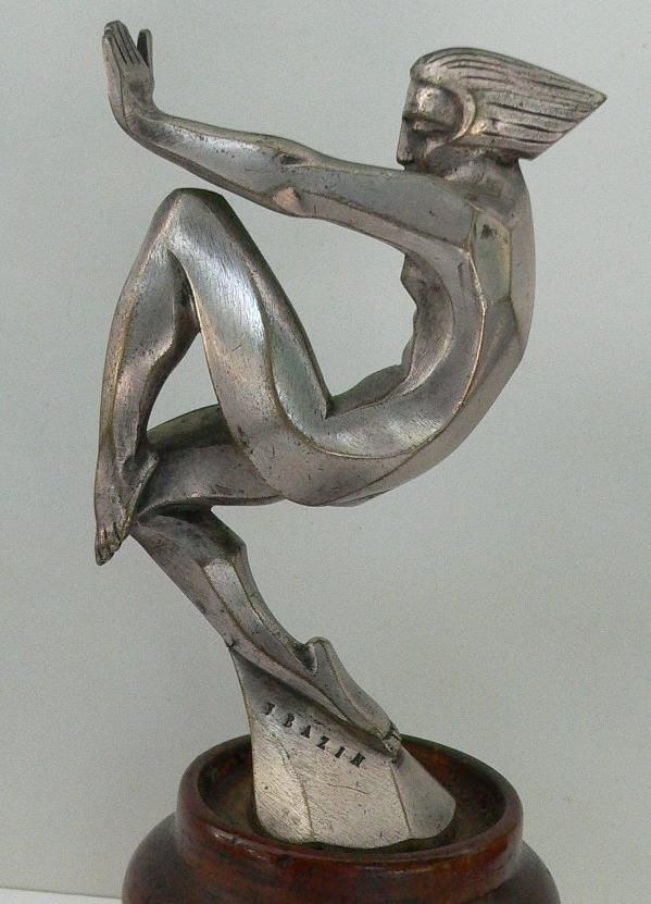 Radiator mascot. Francois Bazin. En Avant. Height 140 mm. Silver-plated bronze. France..Re-pin....Brought to you by Agents of #CarInsurance at #HouseofinsuranceEugene