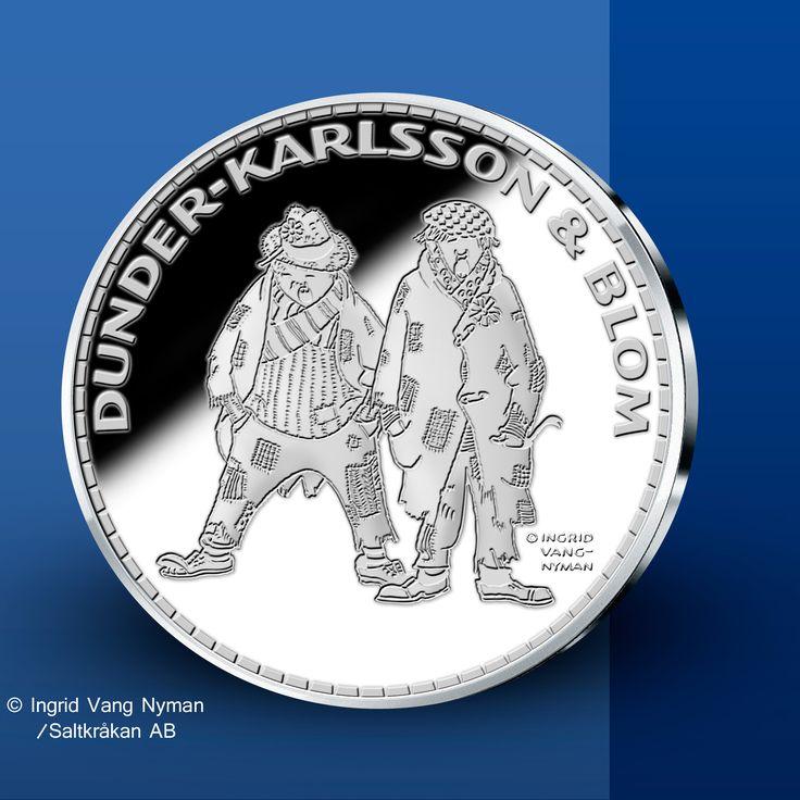Dunder-Karlsson & Blom - Pippi Långstrump Silvermedaljer