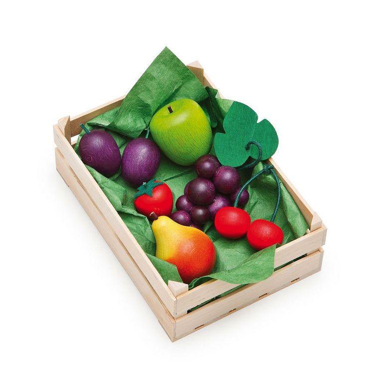 Assortiment de fruits - Dînette en bois Erzi http://www.lesjouetsdarthur.fr/jeux-d-imitation/dinette-fruits.html