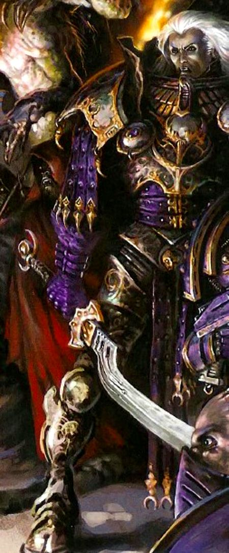 "Warhammer 40k, The Horus Heresy - ""The Primarch Fulgrim during the Horus Heresy, holding the Daemonblade of the Laer that was the source of his downfall."""
