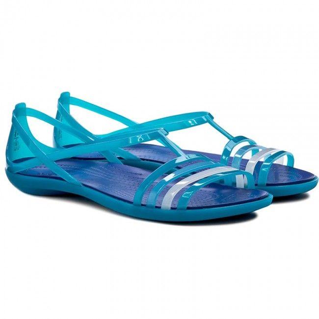 Sandały CROCS - Isabella Sandal W 202465 Turquoise/Cerulean Blue