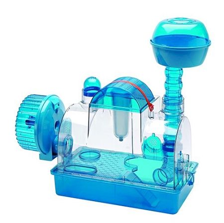 Cool Hamster Cages all plastic | Blue Knight Hamster Cage