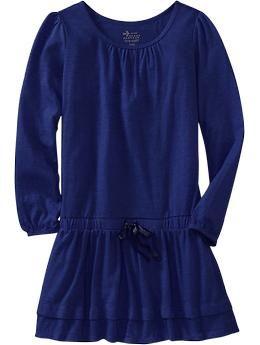 Girls Drop-Waist Jersey Dresses | Old Navy