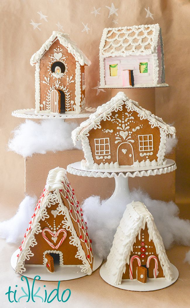 Gingerbread for Beginners e-book, including tips, techniques, recipes, and five printable gingerbread house templates. Everything you need to know for gingerbread house success!