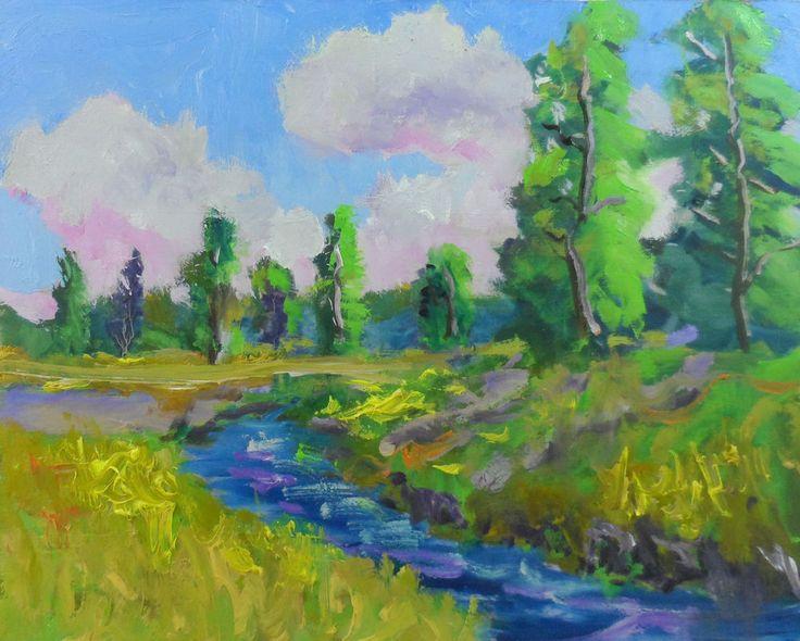 """l artwork original oil landscape painting 8x10""""  impressionist  by Ken Burnside #Impressionism"""