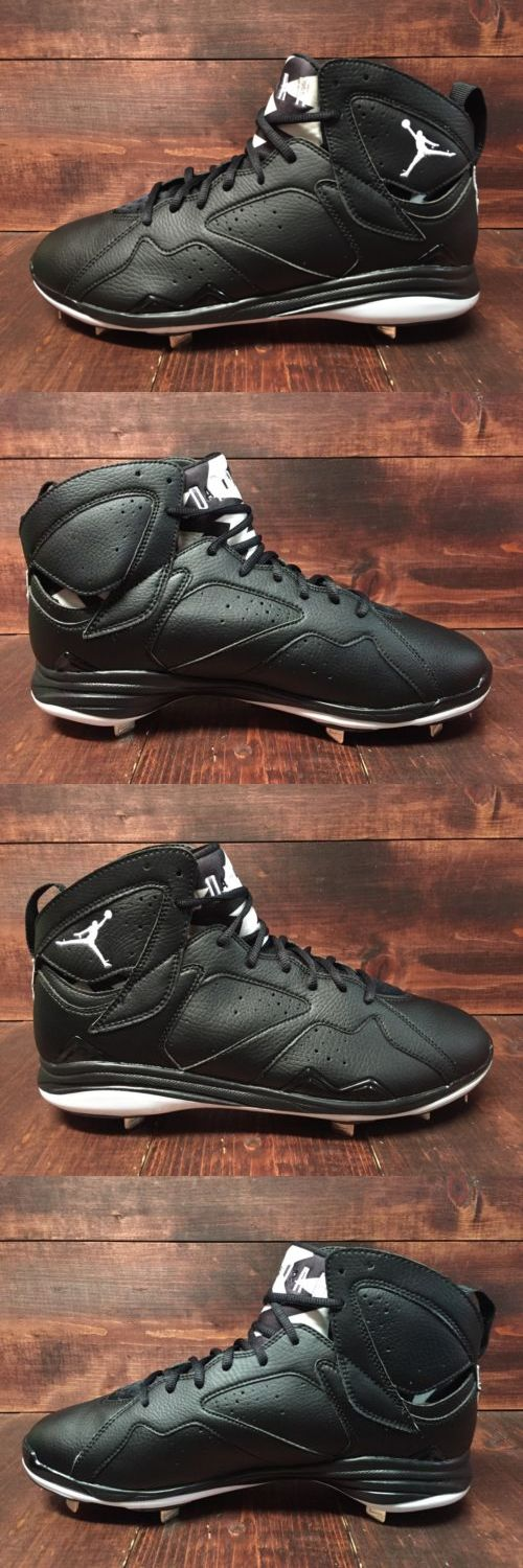 Mens 159059: Nike Air Jordan Vii 7 Retro Metal Baseball Cleats Black White Sz ( 684943-010 ) -> BUY IT NOW ONLY: $33.99 on eBay!
