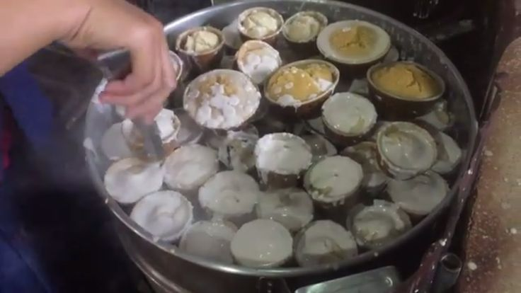 Asian- Khmer Foods & Cakes | Steam Rice Cake, steam corn, egg pancake, b...