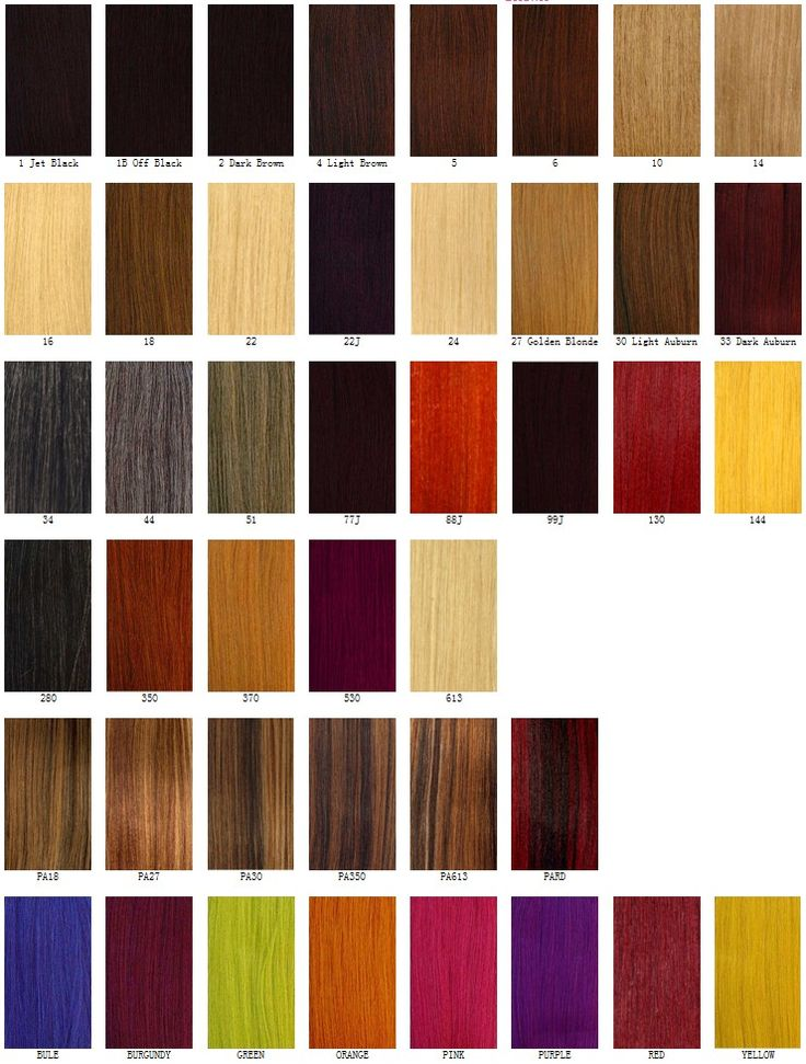 Different Hair Color Chart | Hair Color | Pinterest ...