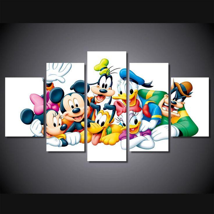 Mickey Mouse Disney Cartoon movie characters wall art canvas
