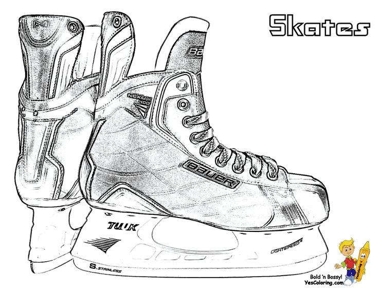 Hockey coloring page of ice skates