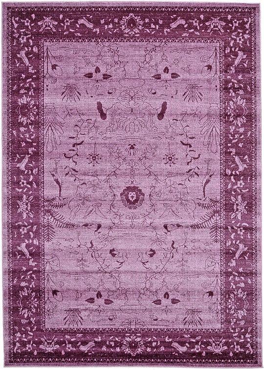 purple classic tricolor area rug