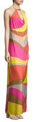 Trina Turk Multicolored Halter Dress