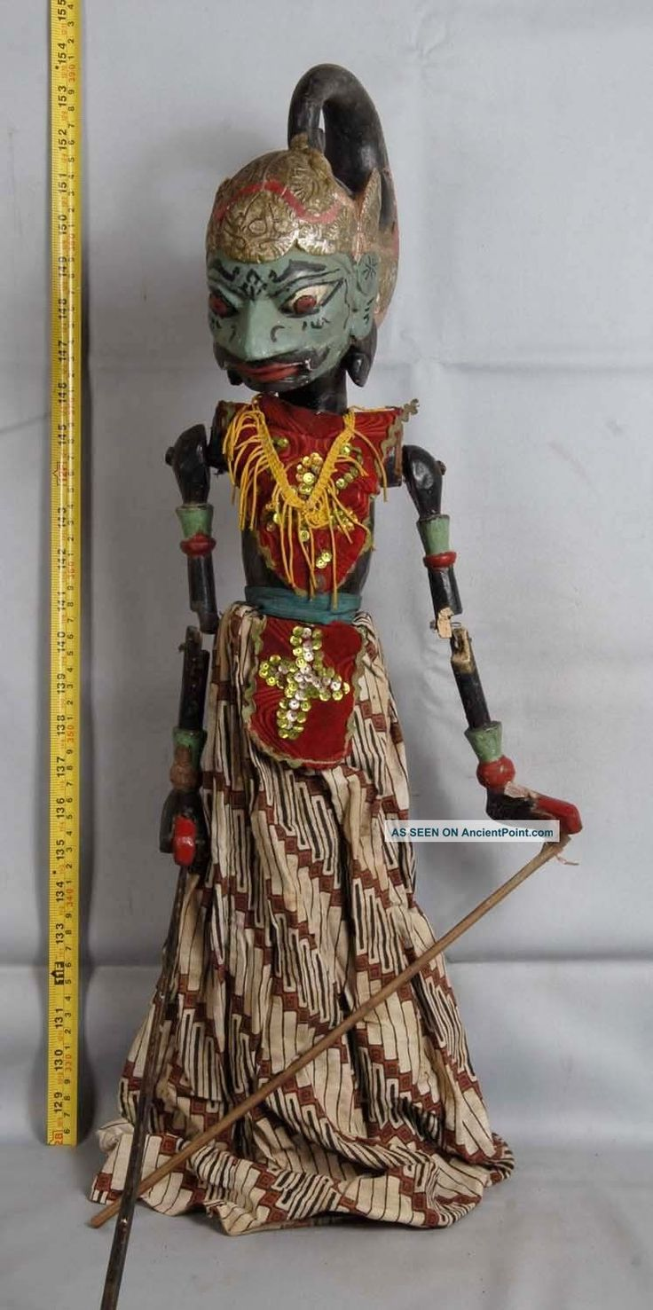 rod puppets | ... Wooden Carved Rod Puppet Jawa Gm83 Pacific Islands & Oceania photo 3