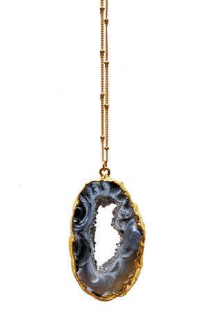 AGATE geode druzy necklace