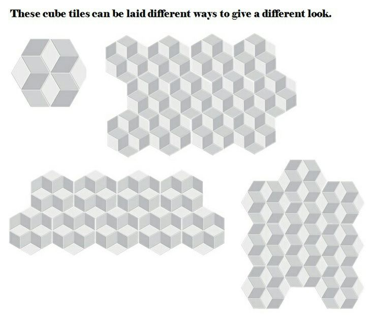 Cube tiles can be laid many different ways!