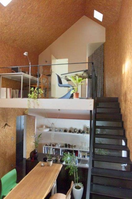 Проекты коттеджей и домов. Дом, внутренние стены которого облицованы ДСП