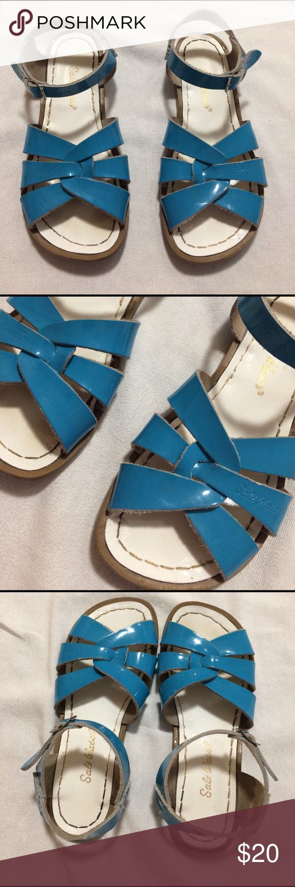 saltwater girls sandals blue saltwater sandals size 3 very well taken care of no