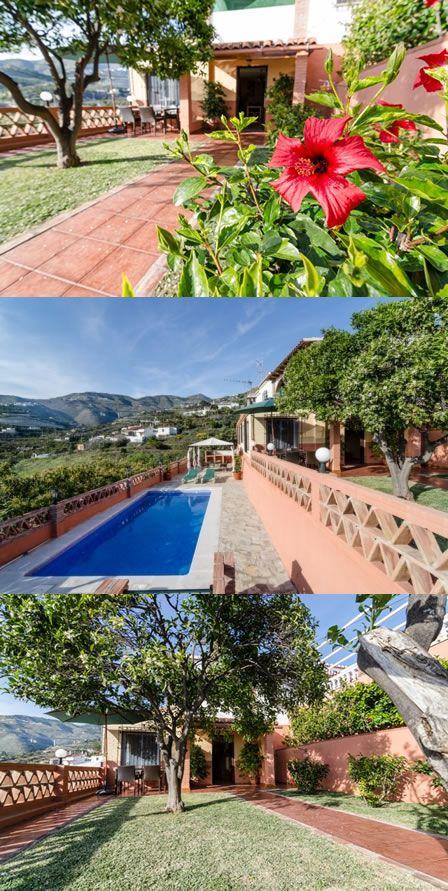 chalet con piscina privada y jardin cerca de almuecar granada http