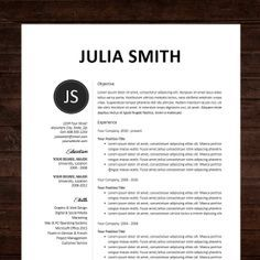 Resume / CV Template, Professional Resume Design For Word Mac Or PC, Free  Cover Letter, Creative, Modern   The Kate
