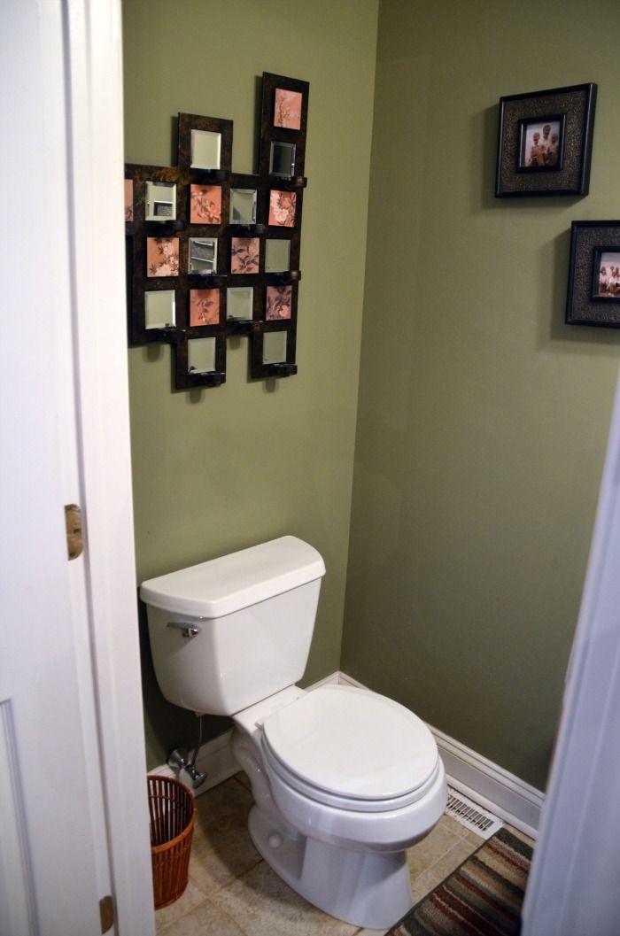 62 best bath 1 2 bath images on pinterest restroom for Small bathroom goals