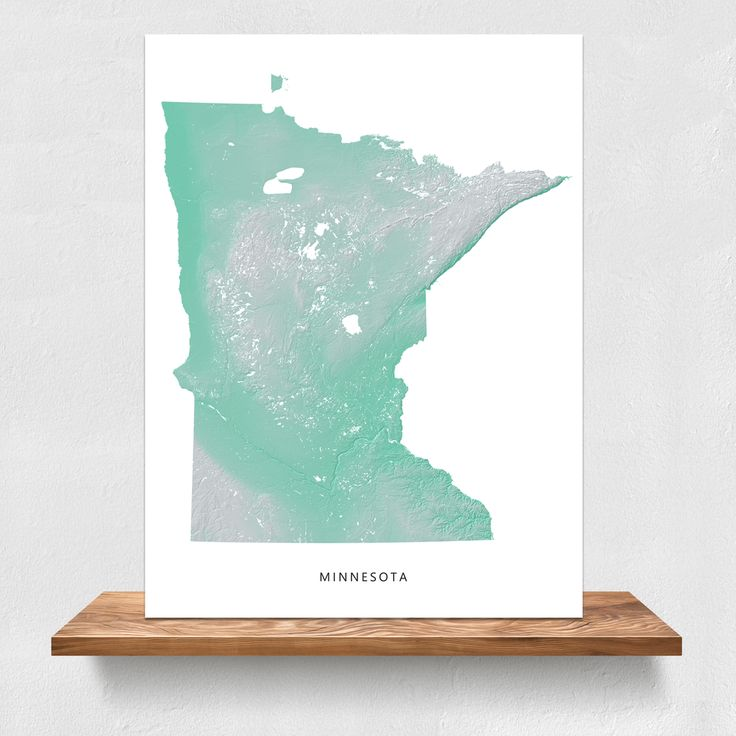 North American Eca Map%0A Minnesota landscape map print by Maps As Art  minnesota  map