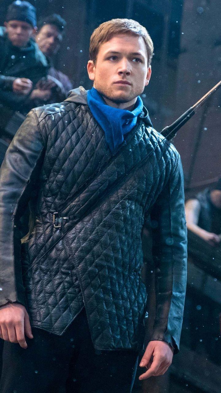 Jaw Dropping Wallpaper Taron Egerton Robin Hood Movie 2018 7201280 Wallpaper Leather Jacket Men Taron Egerton Robin Hood