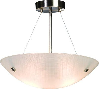 Artcraft Lighting AC611 Linen Glassware Semi Flush Ceiling Light