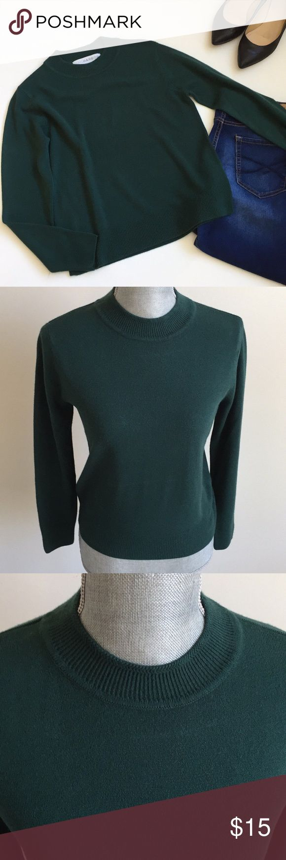 Sag Harbor Sweater Like new dark green high neck sweater. Long sleeve. Super soft. Made with 100% acrylic. No flaws. Sag Harbor Sweaters