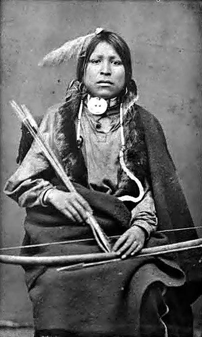 Spotted Fawn, Lakota, 1870s.