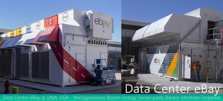 Untuk mendukung transaksi online, eBay melakukan revolusi dalam perancangan data center server untuk sistem pembangkit utama dan cadangan yang agak radikal.