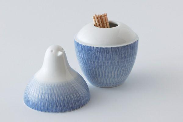 白山陶器 とり型蓋付きようじ立て(ピッコロ )