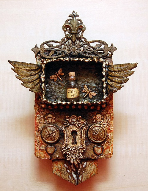 texture: Altered Boxes, Assemblages Art, Pockets Shrine, Doors Locks, Steampunk Wings, Altered Tins, Michael Demeng, Altered Art, Altoids Tins