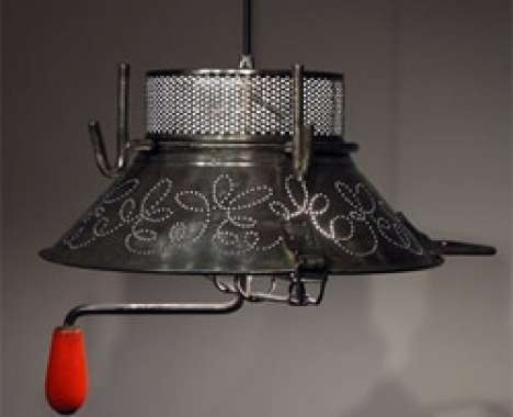 Good Gilles Eichenbaum Recycles Kitchenware Into Unusual Light Fixtures